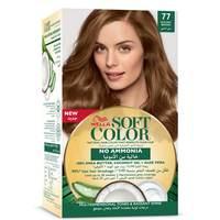 Wella soft color hair color kit 77 golden brown
