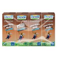 Lacnor Essentials Chocolate low Fat Milk 180ml x Pack of 8