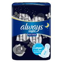 Always Clean & Dry Maxi Thick Night Sanitary Pads 24 Pads
