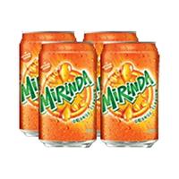 Mirinda Soft Drink Can 330ML X4