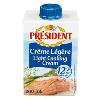 President 15% Fat UHT Light Cream 200ml