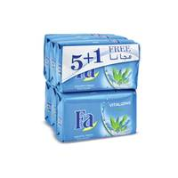 Fa vitalizing aqua bar soap 125 g x 5 + 1