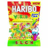 Haribo Worms Fizz Jelly Candy 160g