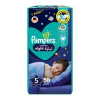 Pampers 5 baby-dry night diapers 12-17 kg x 58