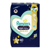 Pampers 5 premium care night diapers 12-17 kg x 40