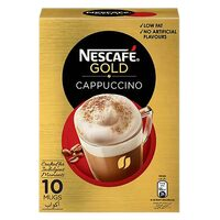 Nescafe Gold Cappuccino Instant Coffee 17g x Pack of 10