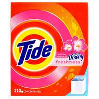 Tide Laundry Detergent Powder Top Load with the Essence of Freshness Downy 110g