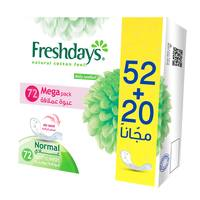 Freshdays normal panty liners mega pack 72 pads