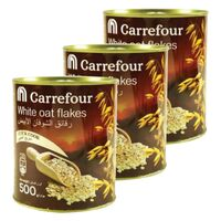 Carrefour Oats Tin 500g x Pack of 3