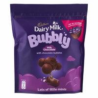 Cadbury Dairy Milk Bubbly Milk Chocolate 204g