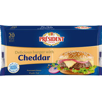 President 400g Cheddar Cheese Slices Pack of 20