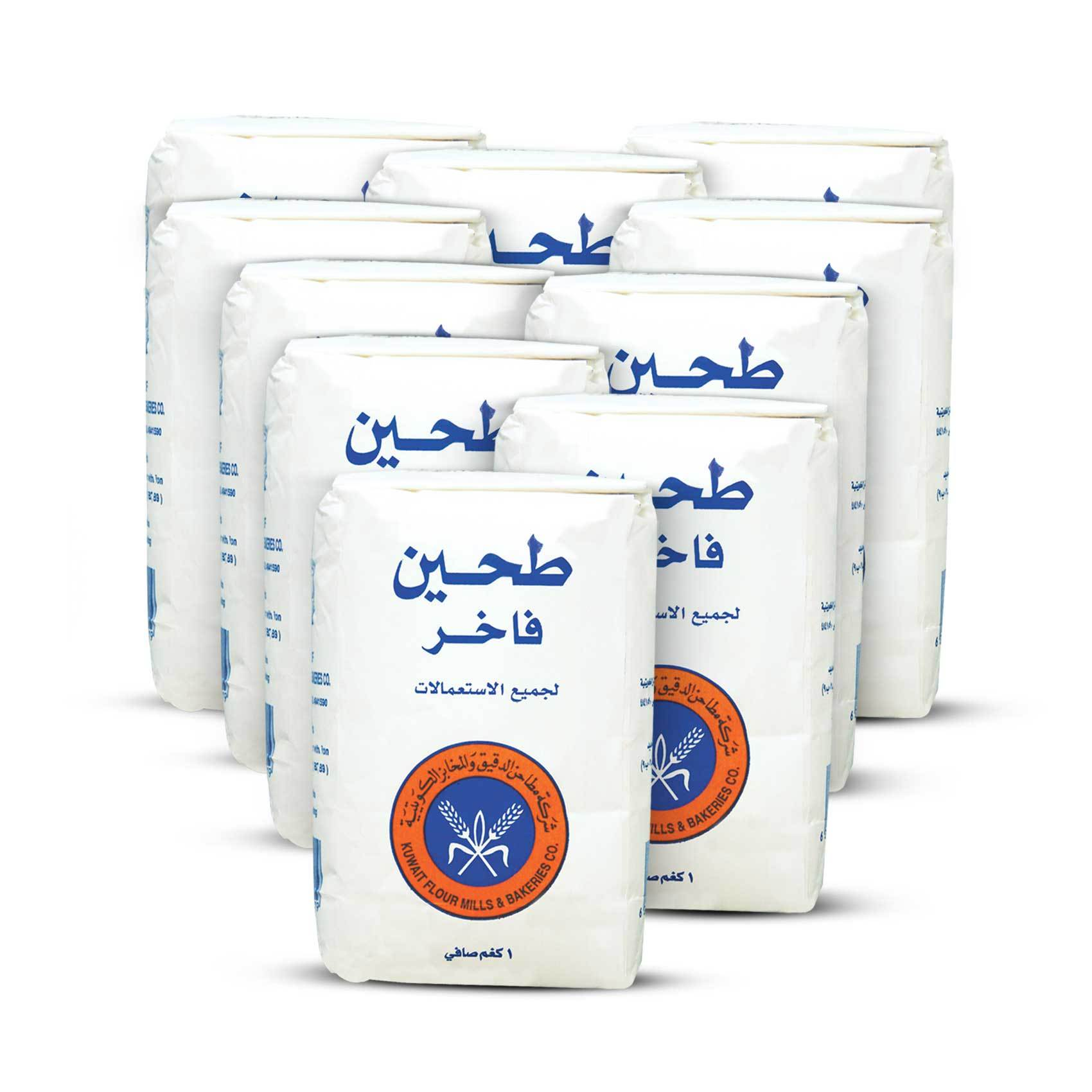 Buy Kuwaity All Purpose White Flour 1 Kg X 10 Online Shop Food Cupboard On Carrefour Saudi Arabia