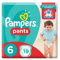 Pampers Pants Diapers Carry Pack Size 6 19 Count 16+ kg