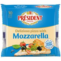 President Special Pizza Mozzarella Slice Cheese 200g