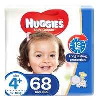 Huggies Ultra Comfort Baby Diapers  Size 4+  10 - 16kg 68 Counts