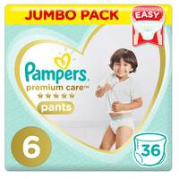 Pampers Premium Care Pants Diapers Size 6 36 Count