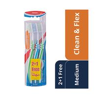 Aquafresh Toothbrush Clean & Flex Medium 2+1 Free