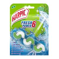 Harpic fresh power 6 toilet cleaner forest dew 35 g x 2 pieces