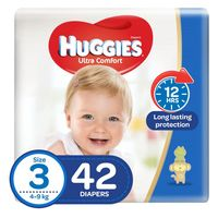 Huggies Ultra Comfort Diapers Value Pack Size 3 Count 42 - 4-9kg