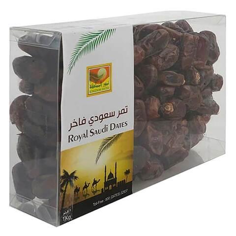 Buy Kingdom Dates Royal Saudi Dates 1kg Online - Shop Food