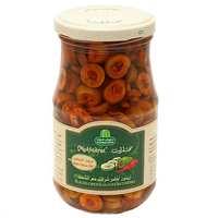 Halwani Bros Sliced Green Olives with Chilli 650g