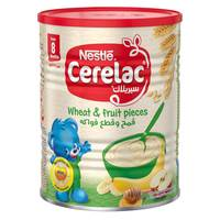 Nestle Cerelac From 8 Months, Wheat and Fruit Pieces Infant Cereal Tin 400g