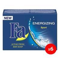 Fa energizing sport active fresh bar soap 175 g x 6 pieces