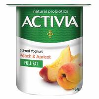 Activia Full Fat Stirred Peach Apricot Yoghurt 120g
