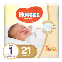 Huggies New Born Baby Diapers Size 1 Up to 5kg 21 Counts