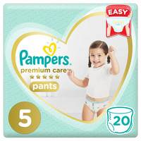 Pampers Premium Care Pants Diapers Size 5 20 Count