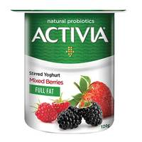Activia Stirred Yoghurt Full Fat Mixed Berries 120g