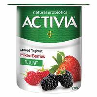 Activia Full Fat Stirred Mixed Berries Yoghurt 120g
