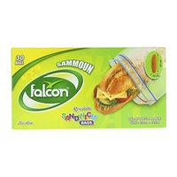 Falcon Sammoun Resealable Sandwich Bags 30 Pieces