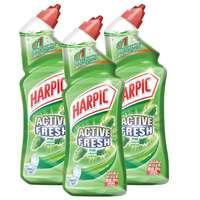 Harpic Fresh Pine Toilet Cleaner 750ml x Pack of 3