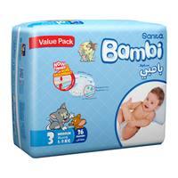 Bambi 3 value pack 3 medium 5 - 9 kg x 36