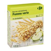 Carrefour green apple cereal bar 125 g