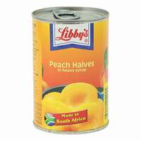 Libby's Peach Halves in Heavy Syrup 420g