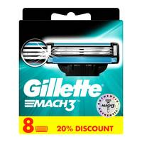 Gillette Mach 3 Men's Razor Blade Refills  Pack of 8