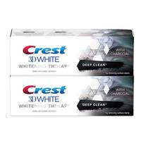 Crest 3D White Toothpaste Whitening Therapy with Charcoal 75mlx2