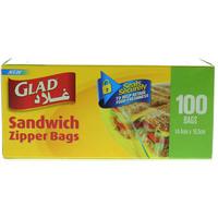 Glad Sandwich Zipper Bags Pack of 100