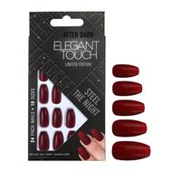Elegant Touch 10 Size Trend Artificial Nails - Steel The Night, 24 Piece