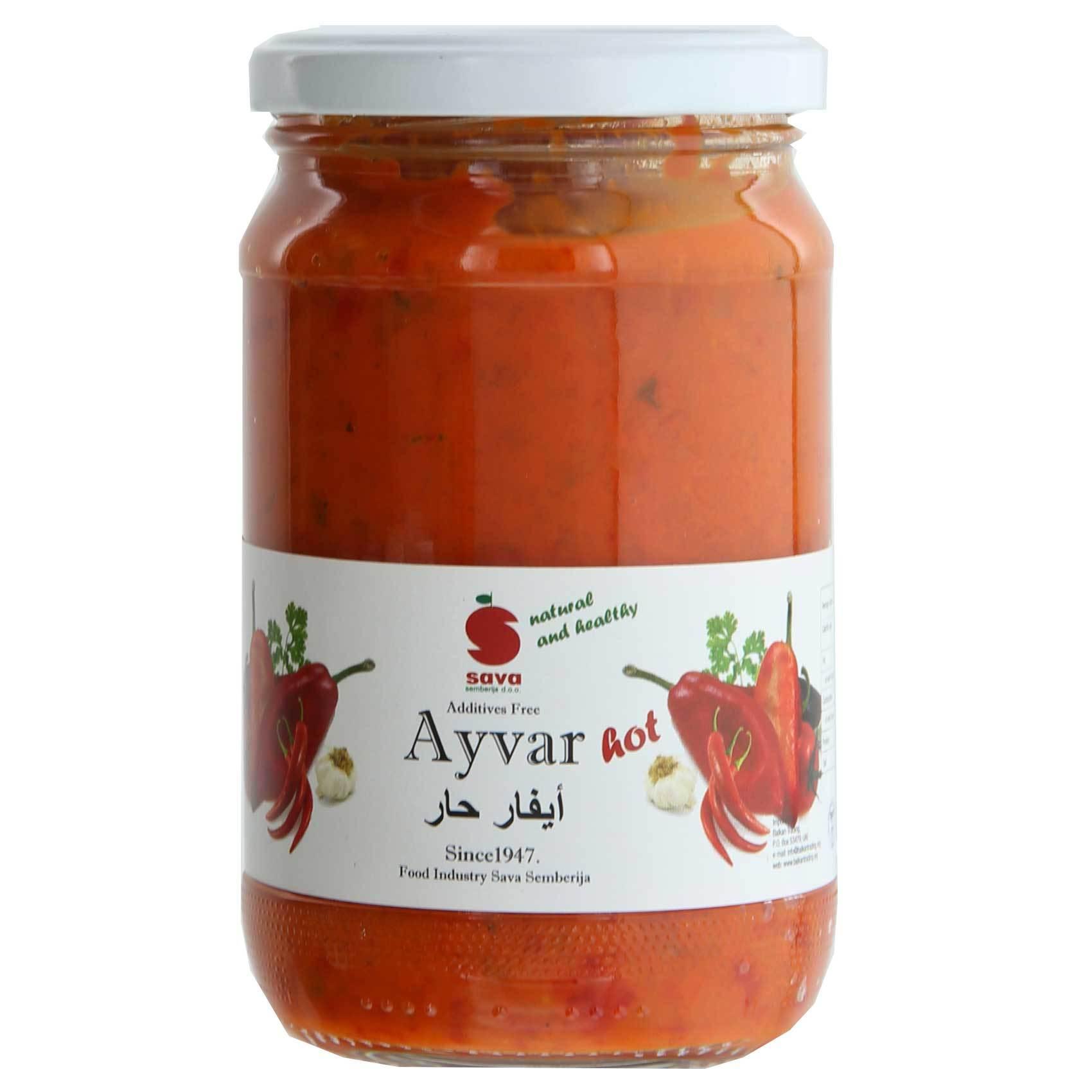 Sava Ayvar Chutney Hot 370ml