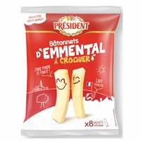President Emmental Stick Cheese 144g