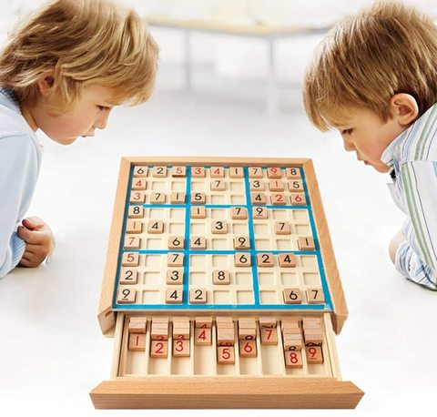 Buy Samdone Puzzle Table Game With Wooden Number Development Of Intelligence Sudoku Board Games Children Adult Toys Online Shop Toys Outdoor On Carrefour Uae