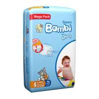 Bambi mega pack 5 xl 74 diapers