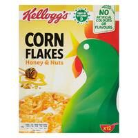 Kellogg's Honey and Nuts Corn Flakes 375g
