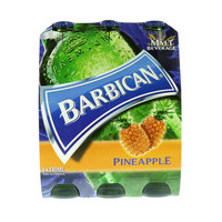 Barbican Pineapple Non Alcoholic Malt Drink 330ml x Pack of 6