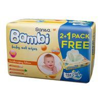 Sanita bambi baby wipes moisturizing  192 pieces