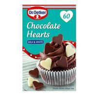 Dr.Oetker Milk and White Chocolate Hearts 40g