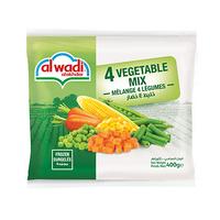 Al Wadi Al Akhdar 4 Vegetable Mix 400GR